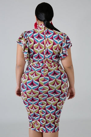 Tru Print Body-Con Dress