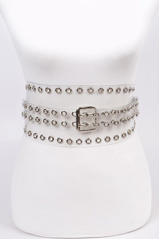 Clear Punched Wrap Around Belt