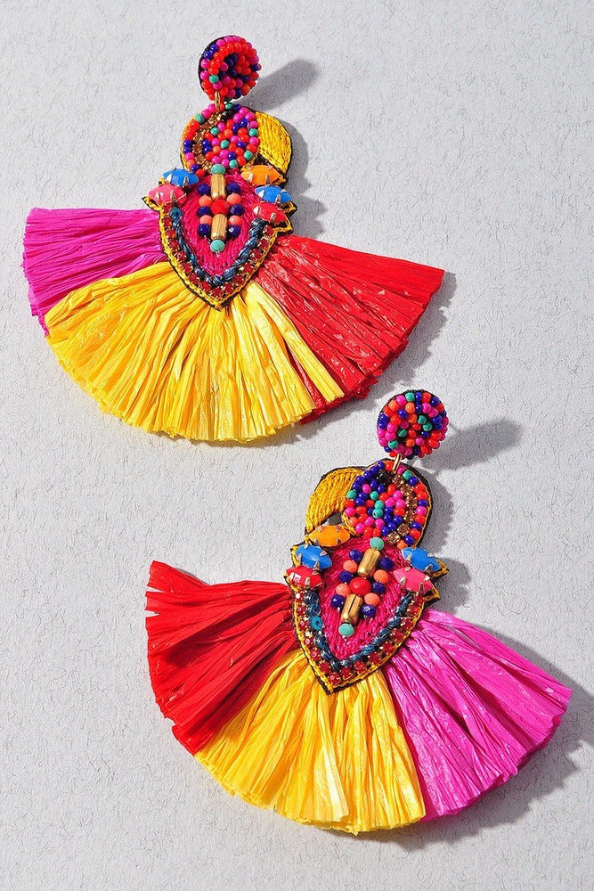 Colorful Fan Earrings