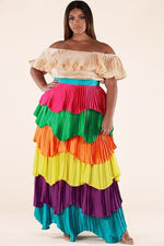 Mardigrass Tiered Dress