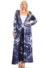 Blue Tie Dye Duster/Cardigan