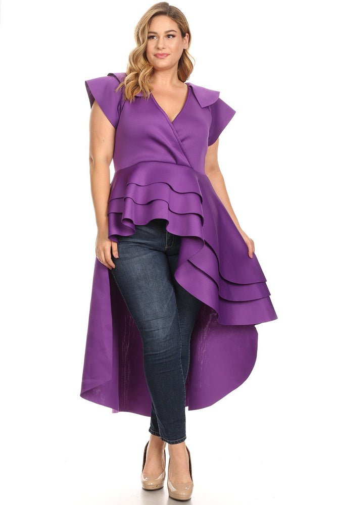 Purple Lee Cascading Top