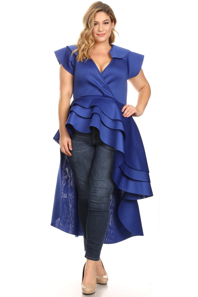 Blue Lee Cascading Top