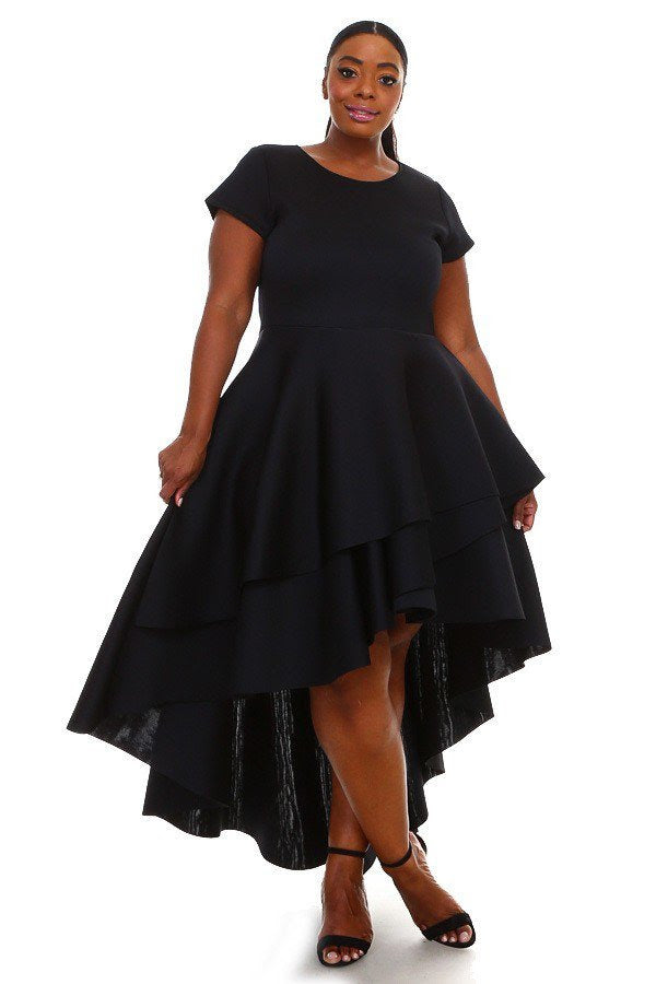Black Carlisa Cascading Dress