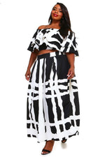 Abstract Tally Skirt Set