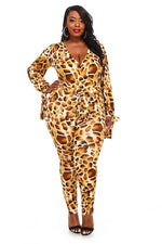 Robby Leopard Print Jumpsuit