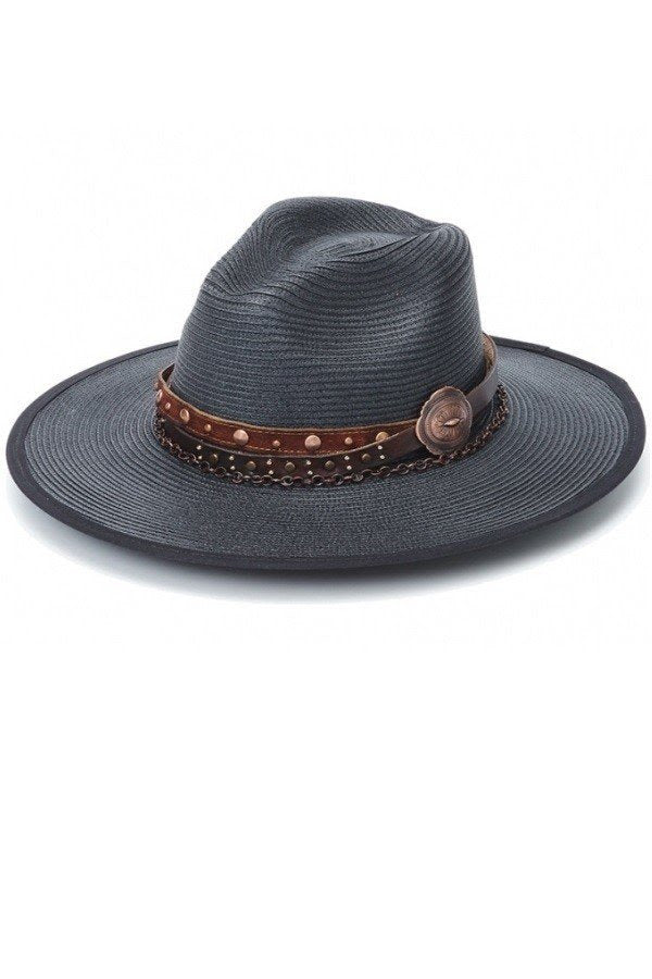 Black Summer Panama Hat