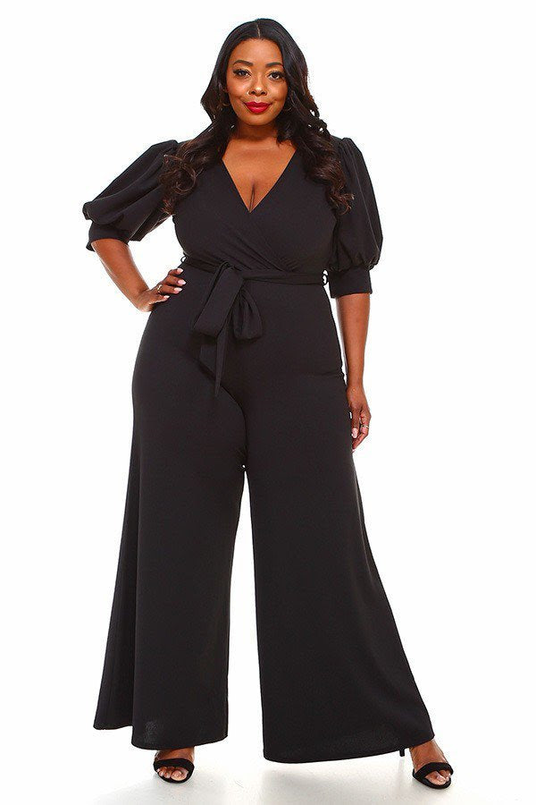 Black Emma Belt Jumpsuit