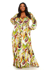 Yellow Mellie Print Maxi Dress