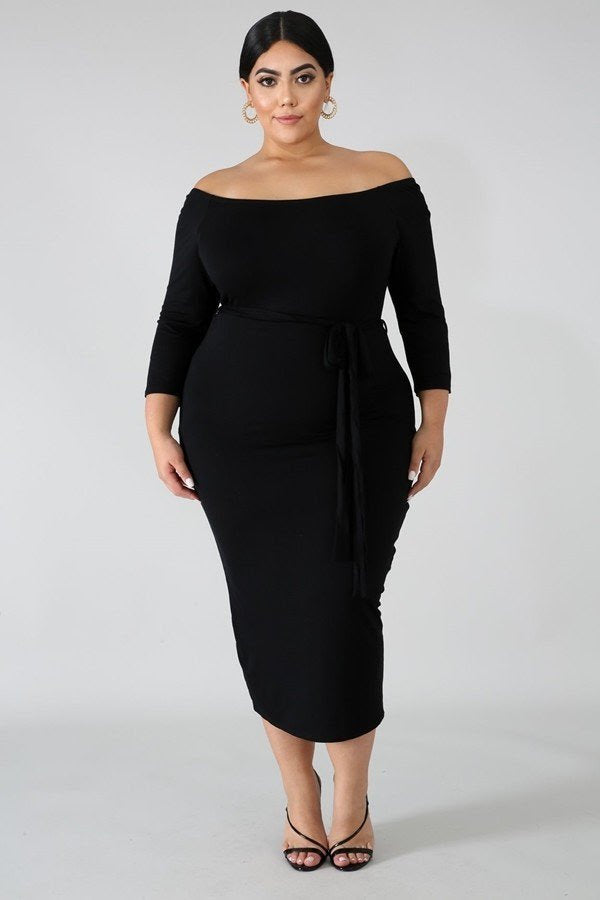 Black Paige Off Shoulder Dress