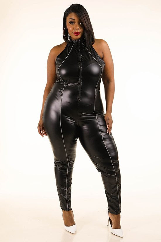Nevada Pipe Faux Leather Catsuit