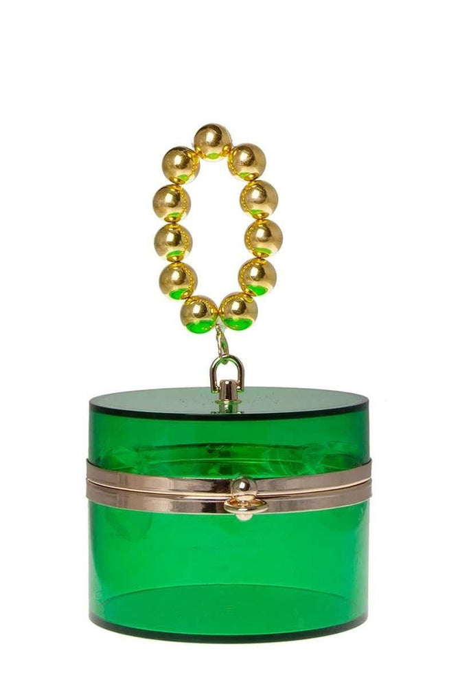 Green Cylinder Shape Bag