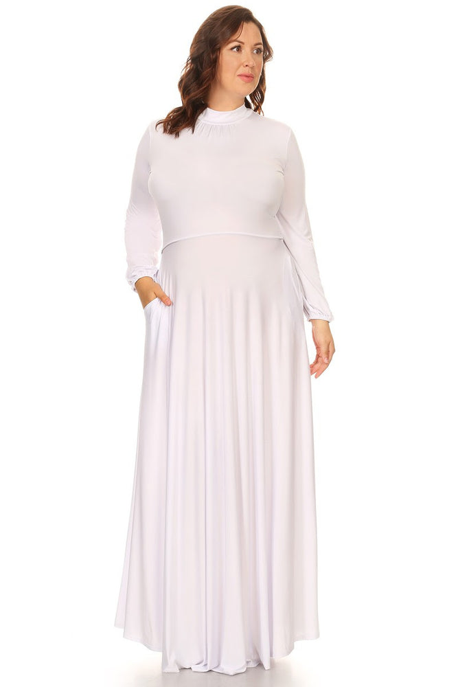 White Orna Pocket Maxi Dress