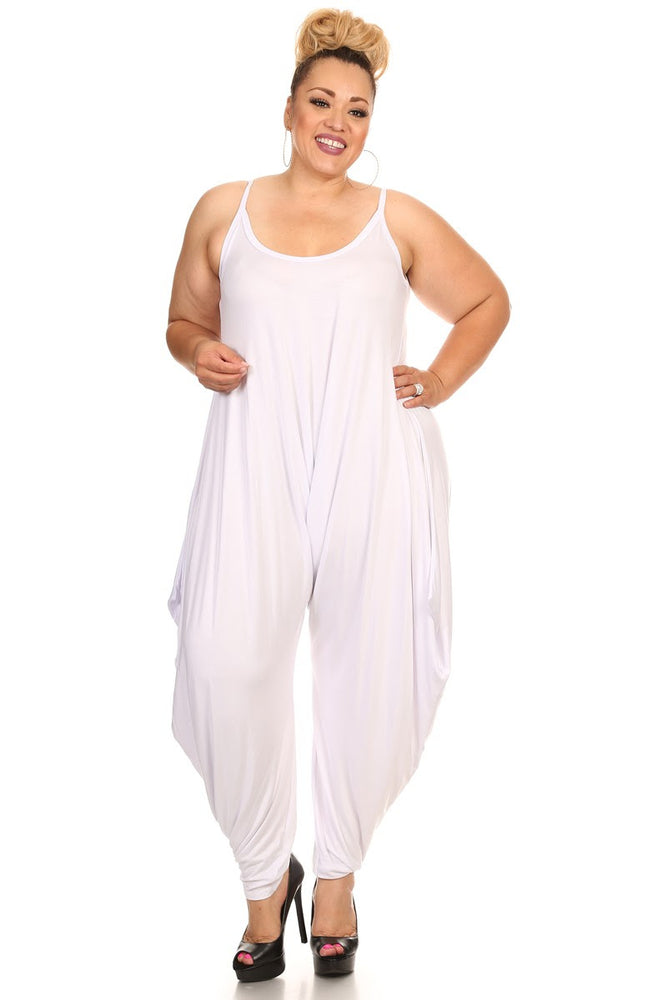 White Bree Long Baggy Jumpsuit