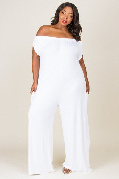 White Pixie Loose Fit Jumpsuit