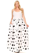 White Kay Polka Dot Skirt