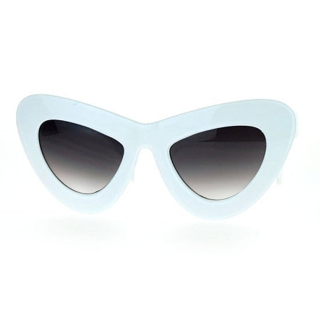 White Shade Thick Cat Eye Frames