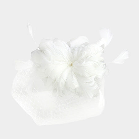 White Feather Fascinator Hat