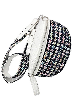 White Quilted Fanny Bag