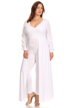White Tommie Maxi Skirt Jumpsuit