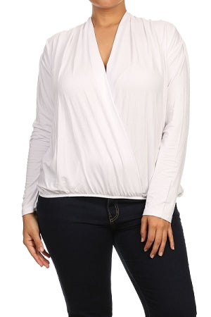 White Surplice Top