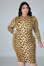 Zella Leopard Body-Con Dress