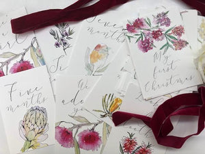 Floral Milestone cards