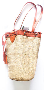 Calypso Straw Bucket Bag