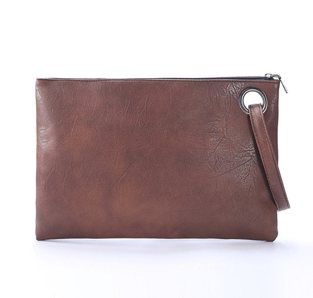 Fashion solid women's clutch bag leather women envelope bag clutch evening bag female Clutches Handbag Immediately shipping - shopmendez