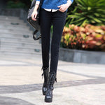 Plus Velvet Thicker Women Jeans Warm High Waist Trousers Cowboy Pants Stretch Denim Jeans Pants Winter Pencil Jeans - shopmendez