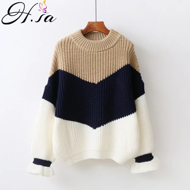 H.SA Winter Pull Sweaters Women Fashion Loose Jumpers Korean Pullovers Knitting Pullovers Thick Christmas Sweater Unif - shopmendez