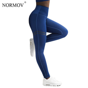 NORMOV Activewear High Waist Fitness Leggings Women Pants Fashion Patchwork Workout Legging Stretch Slim Sportswear Jeggings - shopmendez