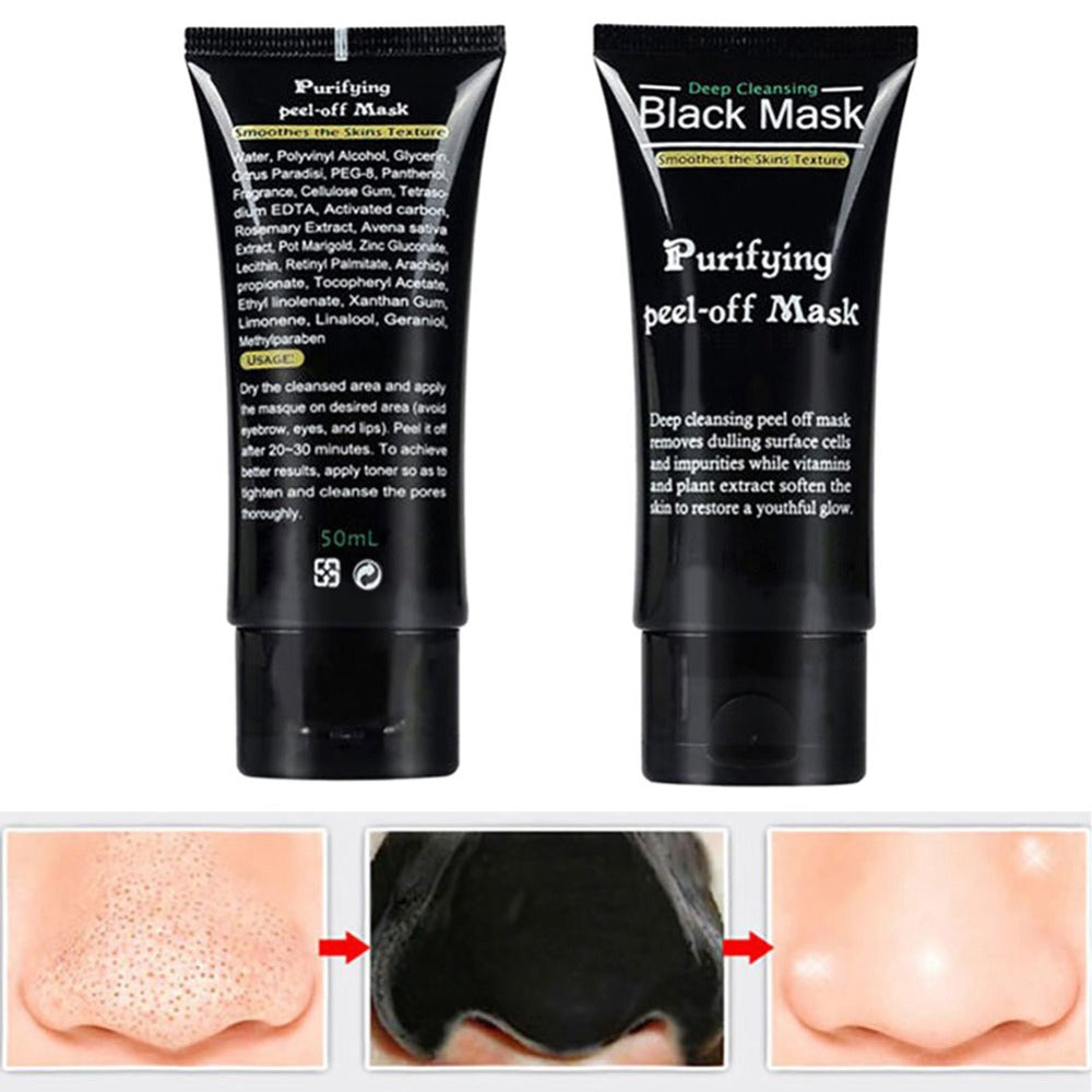Blackhead Remover Deep Cleansing Purifying Peel Acne Black Mud Face Masks - shopmendez