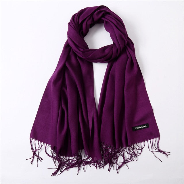 2018 solid color soft women scarf cashmere-like scarves