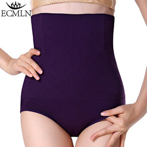 Women High Waist Tummy Control Panties Waist Body Shaper Seamless Belly Waist Slimming Pants Panties Shapewear