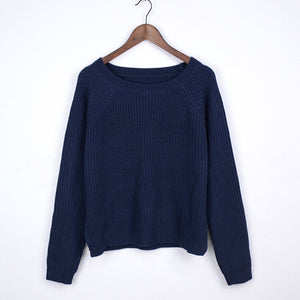 Winter women sweaters and pullovers korean style long sleeve casual crop sweater slim solid knitted jumpers sweter mujer