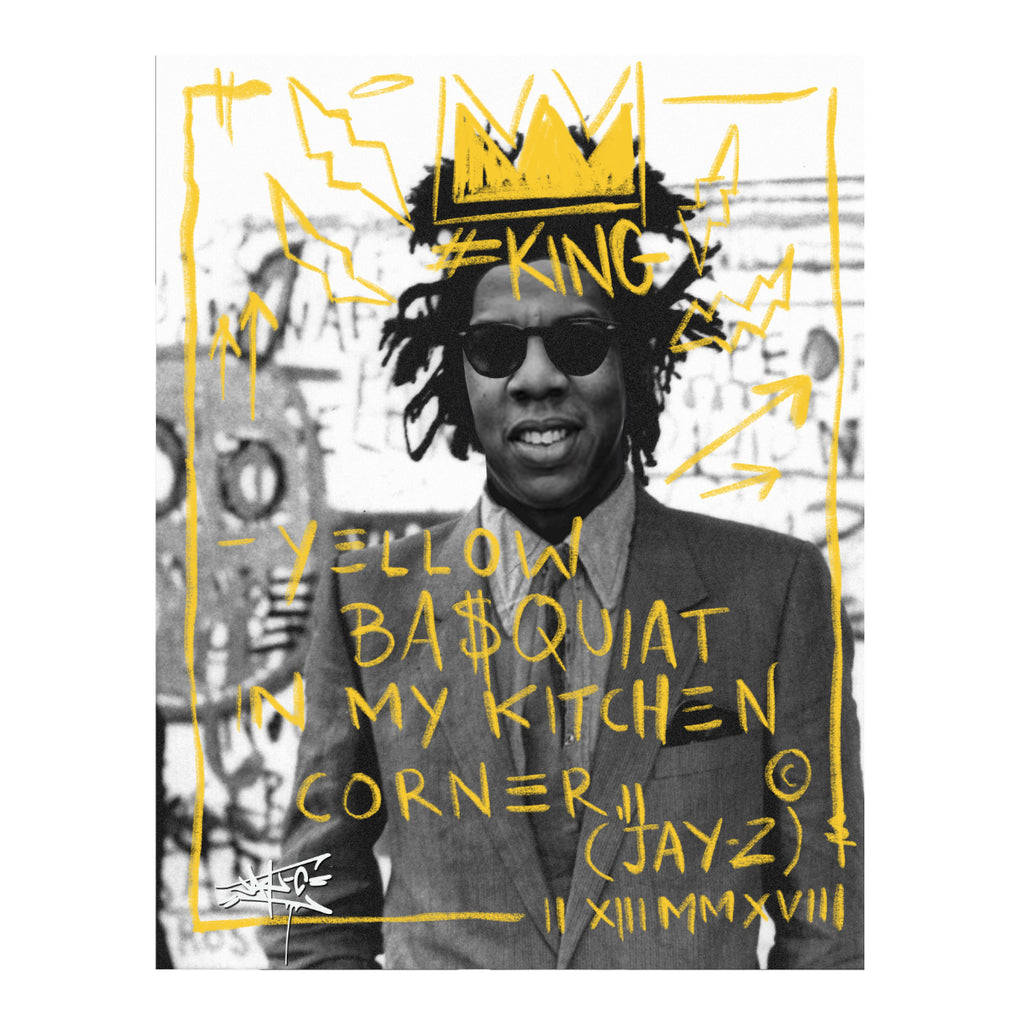 Yellow basquiat in my kitchen corner! - Jay-C