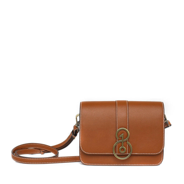 TheOne08 Convertible Crossbody in Saddle Tan