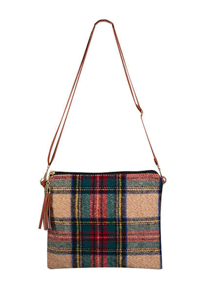 Holiday Vibes Plaid Handbag