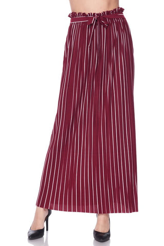 Queen Pinstripe Long Skirt