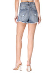 Whinney Relaxed Distressed Denim Shorts