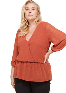 Sunset Peplum Blouse