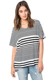 Striped Out Relaxed Tee