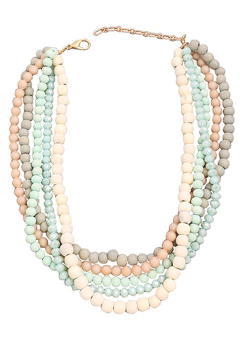 Beaded Collar Statement Necklace