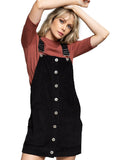 Got Me Covered Cord Overall Dress