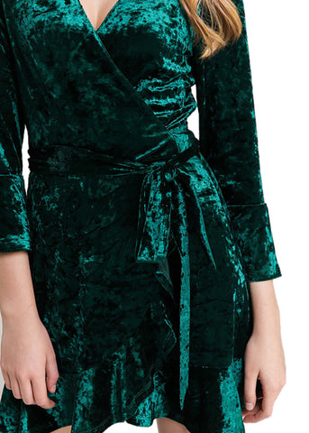 Holiday Vibes Velvet Wrap Dress