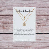 Mother Daughter Bond Necklace (Gold)