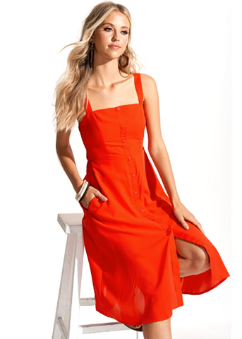 Summer Fresh Button Down Midi Dress