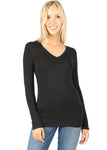 Cotton Long Sleeve Basic Top