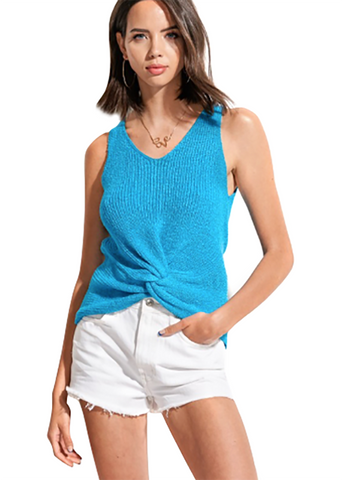 Twisted Summer Knit Tank